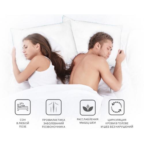 Он и она. Комплект  анатомических подушек для сна с памятью. Цена. Купить