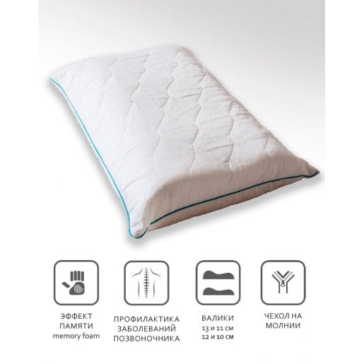 Для нее и для него. Комплект ортопедических подушек для сна с памятью.