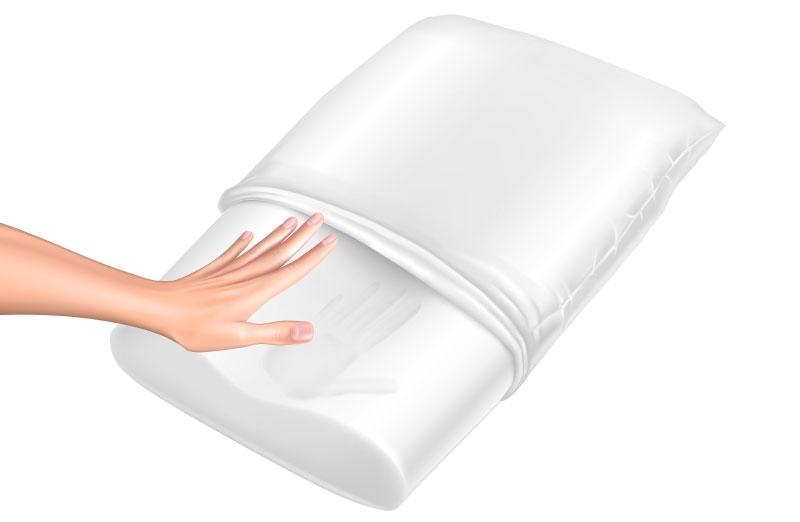 Эффект памяти позволяет подстраиваться подушке под особенности строения тела